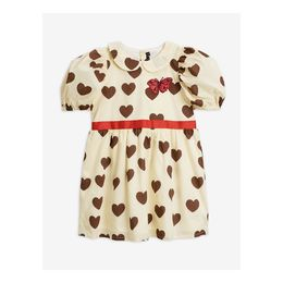Mini Rodini - Hearts ss woven dress, Off white
