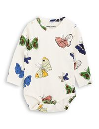 mini rodini - Butterflies LS body, white