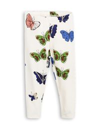 mini rodini - Butterflies eggings, offwhite