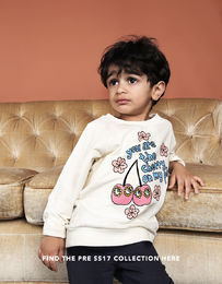 mini rodini - Cherry SP sweatshirt, white