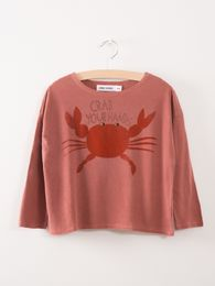 Bobo Choses - T-Shirt Crab your Hands, dusty
