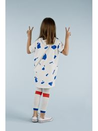 Tinycottons - Cut outs oversized dress, off white blue