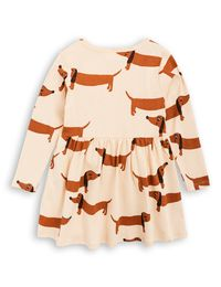 mini rodini - Dog LS dress, beige