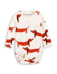 mini rodini - Dog LS body, offwhite