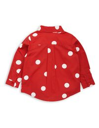 mini rodini - Dot woven shirt, red