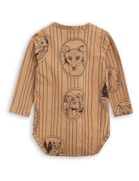 mini rodini - Fox family LS body, brown