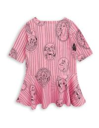 mini rodini - Fox family dress, pink