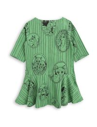 mini rodini - Fox family dress, green