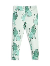 mini rodini - Lion leggings, lt green