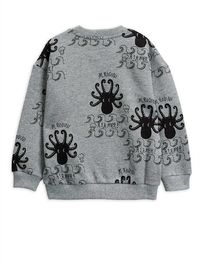 Mini Rodini - Octopus AOP sweatshirt, grey melange