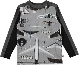 Molo kids - Raso LS shirt, planes and birds