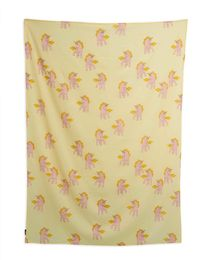 Mini Rodini - Unicorns woven sarong, yellow