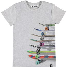 Molo Kids - Raven T-shirt, stacked skateboards