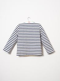 Bobo Choses - Reversible padded jacket, navy stripes