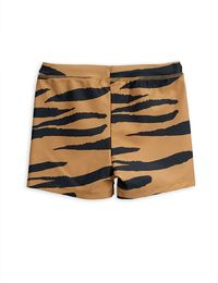 Mini Rodini - Tiger aop swimpants, Brown