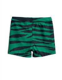 Mini Rodini - Tiger aop swimpants, Green