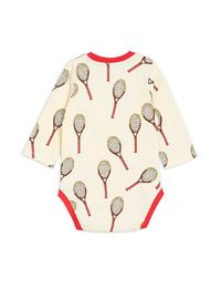 Mini Rodini - Tennis aop ls body, white