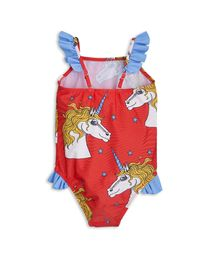 mini rodini - Unicorn wing swimsuit, red
