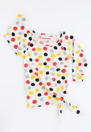 Nadadelazos - Watercolor dots dress, lt grey