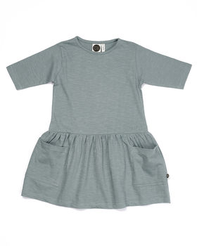 Mainio - SLUB POCKET DRESS, Silver blue