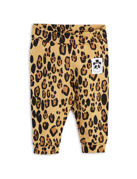 Mini Rodini - Basic leopard nb leggings, beige