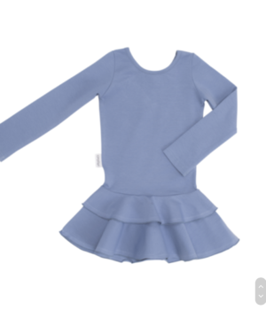 Gugguu - Frill dress, smokey blue