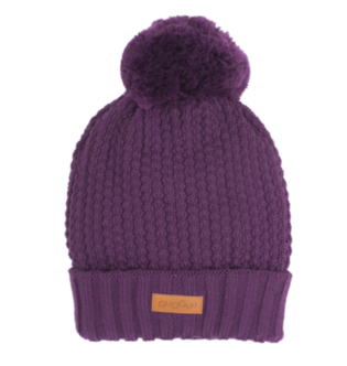 Gugguu - Beanie with one tuft, purple