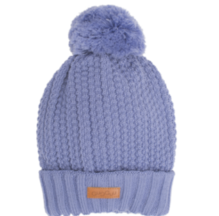 Gugguu - Beanie with one tuft, smokey blue