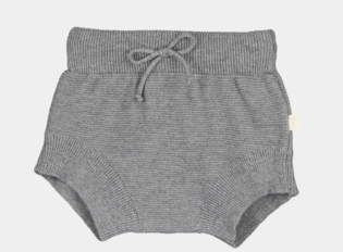 Mini sibling - Knitted pants, grey melange