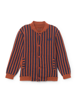 Bobo Choses - Rainbow Buttons Sweatshirt, Burnt Ochre