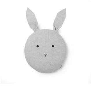 Liewood - Kaj knit rabbit pillow, dumbo grey