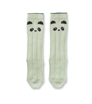 Liewood - Sofie knee socks, panda dusty mint