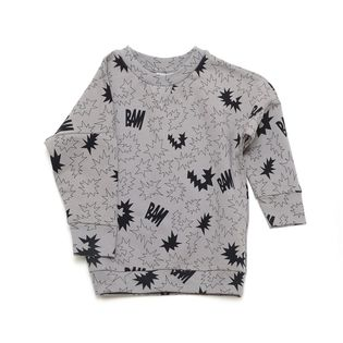Little man happy - Bam sweater, grey