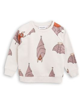 mini rodini - Bats sweatshirt, lt grey