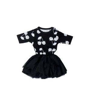 Huxbaby - Black ballet dress, black
