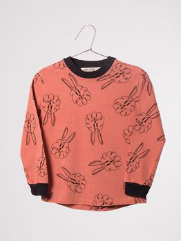 Bobo Choses - T-shirt bunnies, orange rust