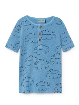 Bobo Choses - T-Shirt buttons Clouds, blue