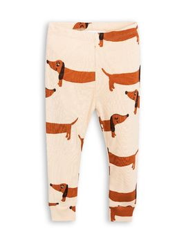 mini rodini -Dog leggings, beige