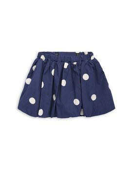 mini rodini - Dot woven skirt, navy
