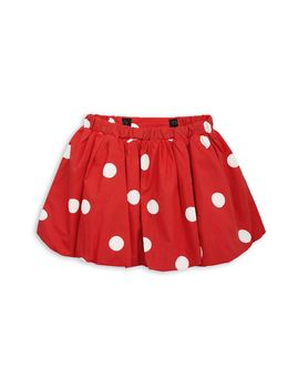 mini rodini - Dot woven skirt, red