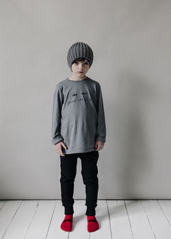 Beau LOves - Fin tee secret eye, slate grey