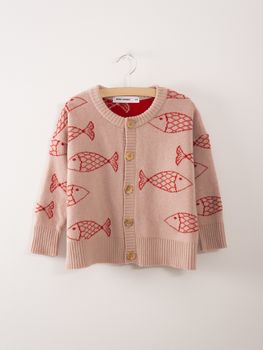 Bobo Choses - Knitted Cardigan Shoaling Fish
