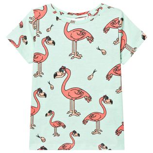 Tao and friends - Flamingo tee, mint green
