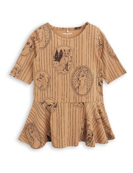 mini rodini - Fox family dress, brown