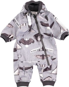 Molo kids - Hill soft shell overall, planes and birds