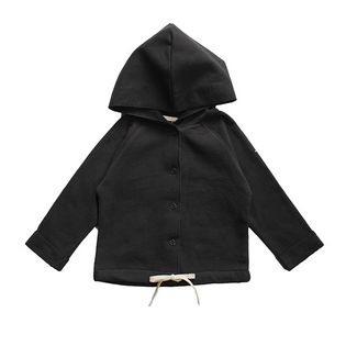 Gray label- Baby hooded cardigan, nearly black
