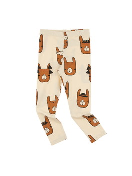 Tinycottons - Llama heads pants, beige/nude
