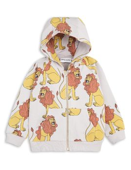 mini rodini - Lion zip hood, grey