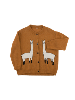 Tinycottons - Llama knitted cardigan, brown