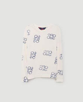 TAO - Dog kids shirt, white blue logo